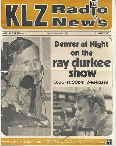 KLZ Radio News Denver at Night Ray Durkee