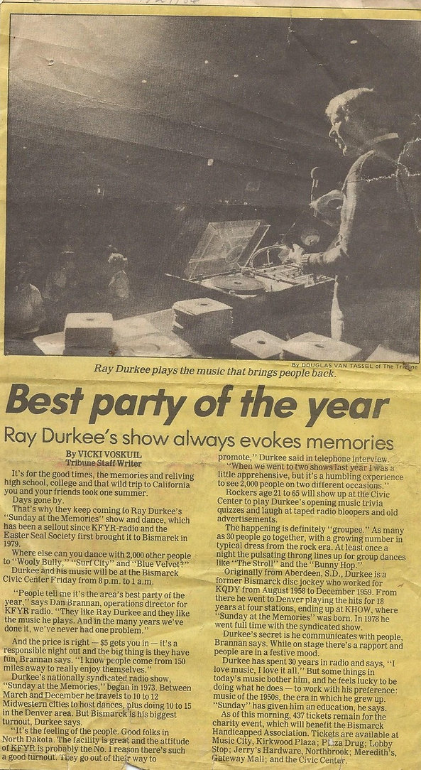 Best Party of the Year Ray Durkee News