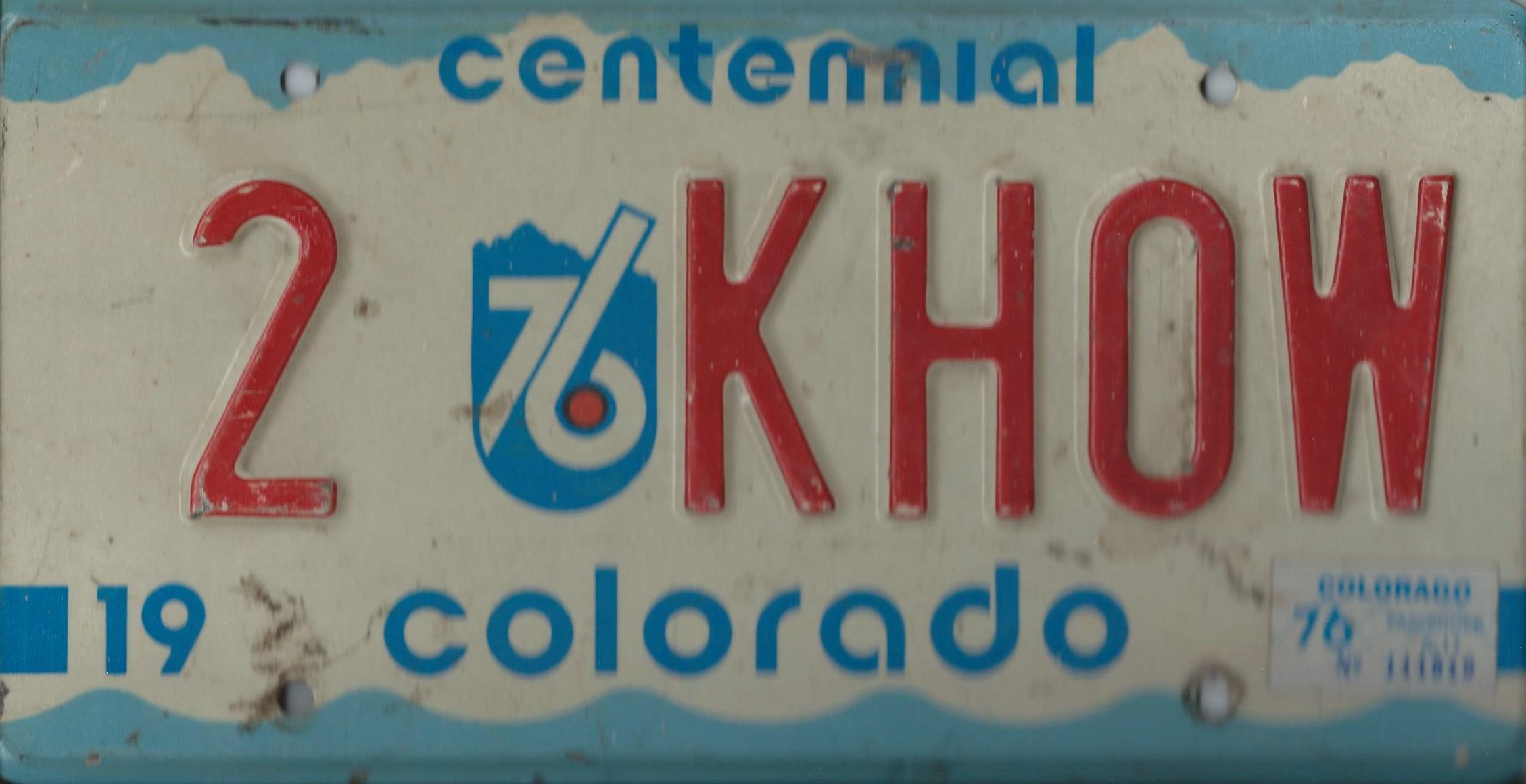 KHOW Plate