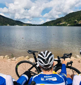 Pause sur le lac de Gérardmer