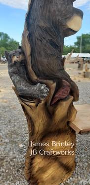 Bobcat Bench Closeup