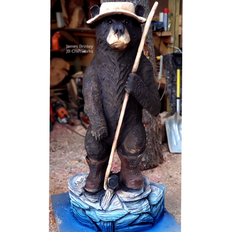 Fishing Bear with Paint
