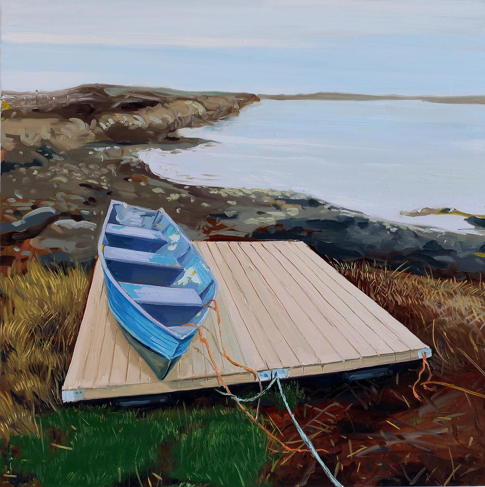 "Lockeport, Nova Scotia 30"" x 30"", Hangama Amiri 2018"