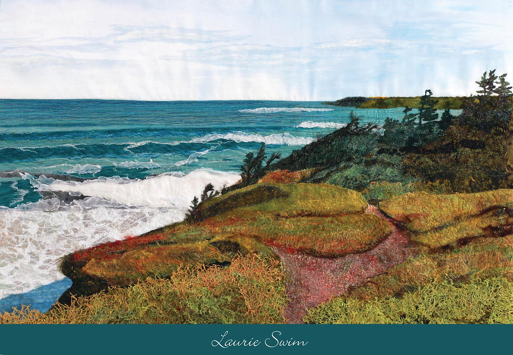 notecard print of textile art by Laurie Swim