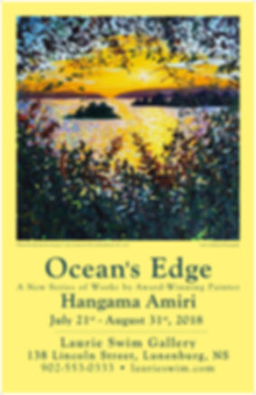 Poster for Ocean's Edge Hangama Amiri Laurie Swim Gallery