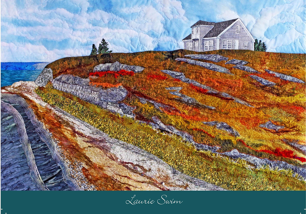 notecard print of textile artwork by Laurie Swim