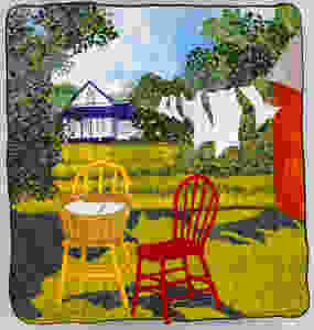 """From Our Back Yard 1997, 56"""" x 52"""" (Collection of Lori and David Rousseau)"""