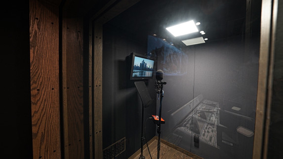 HCK Room A 3 Microphone From Outside.JPG