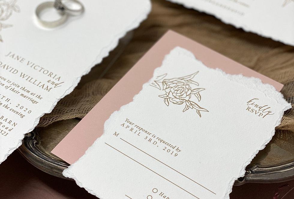 Dear Jane Invitation + RSVP Package