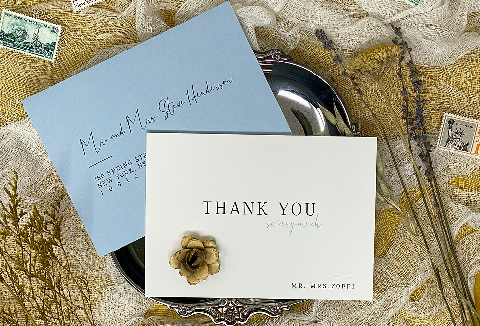 Modern Fairytale Elopement Thank You Cards