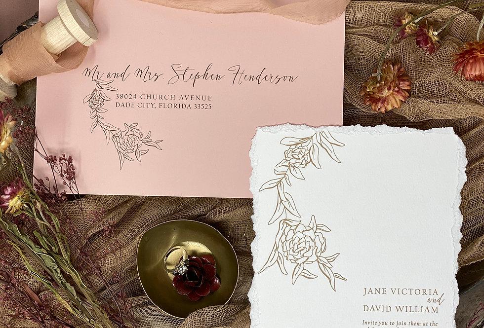 Dear Jane Wedding Invitation