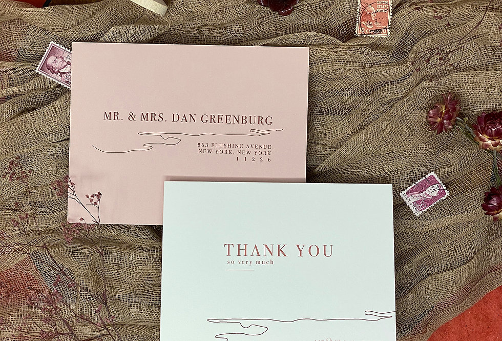 Vista Elopement Thank You Cards