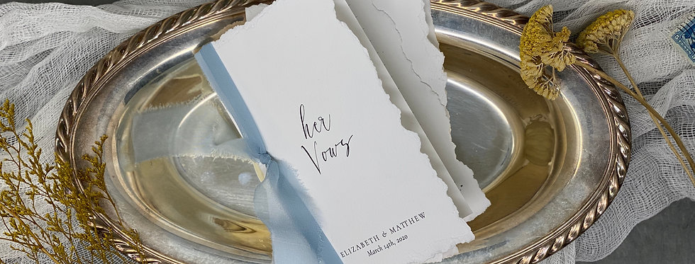 Custom Vow Books with Silk Ribbon