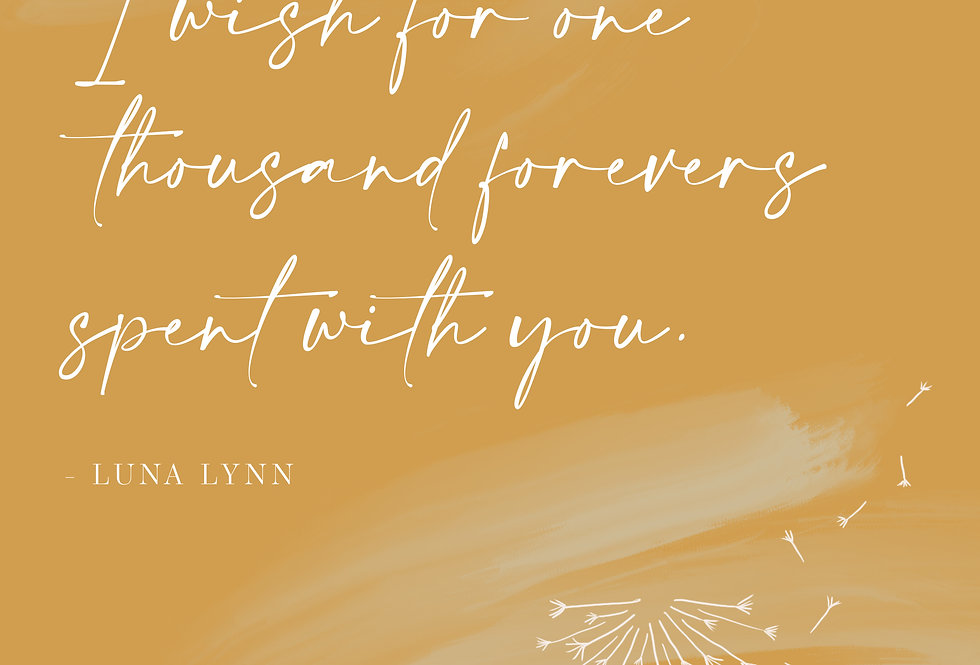 One Thousand Forevers Poetry Print