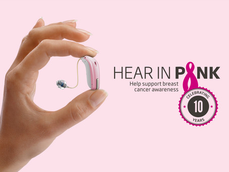 Hear in Pink Campaign Promotes Hearing Health & Breast Cancer Awareness