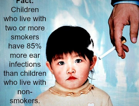 Secondhand Smoke Increases Ear Infection Risk in Children