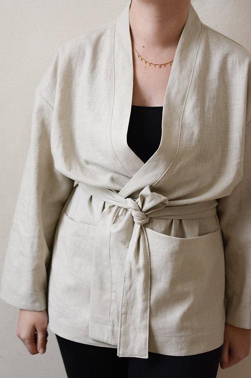 Kimono 100% lin