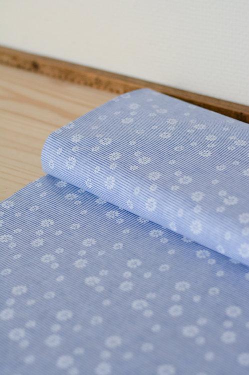 Coton semi-transparent Blue Flower X10cm