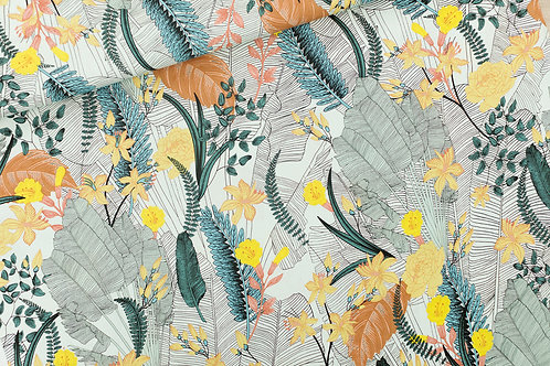 Viscose See you at six_ Tropic FlowersX10cm