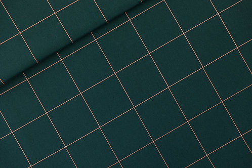 Toile de coton See You At Six_Thin Grid_Green Gables X10cm