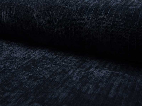 Maille chenille bleu marine X10cm