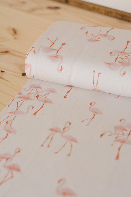 Jersey Family Fabrics_Flamingo X10cm