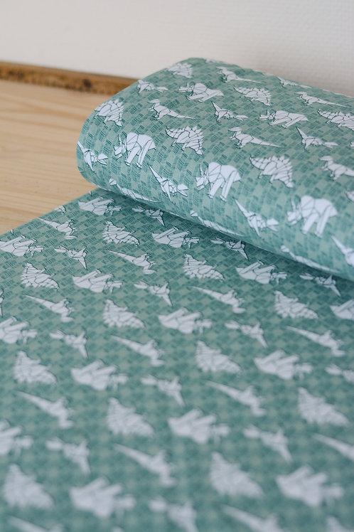 Tissu sweat_Dino origami X10cm
