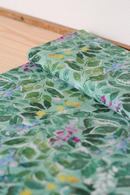 Crêpe de viscose écovero_Green Foliage X10cm
