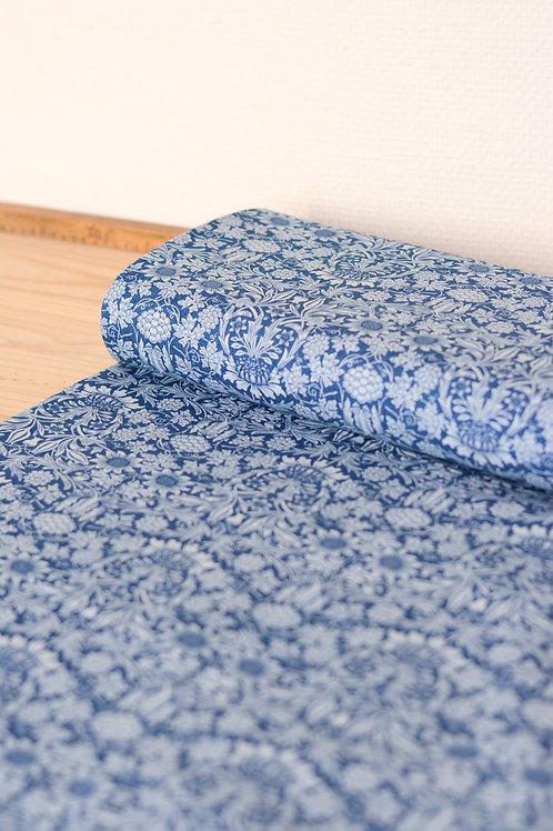 Tissu Jean imprimé_Bleu X10cm