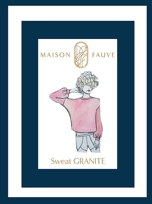 Patron Maison Fauve_Sweat GRANITE