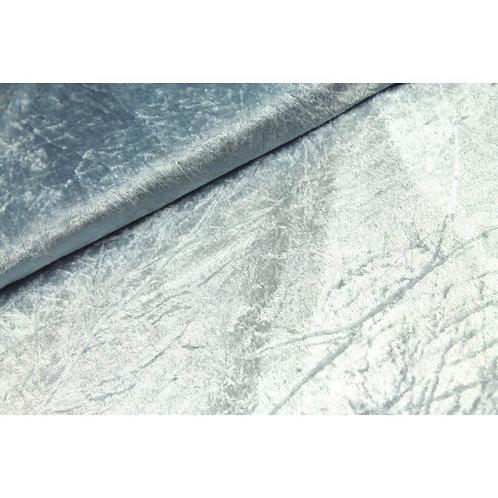 Panne de velours bleu givré X10cm