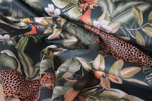 Velours ameublement Forêt Tropicale X10cm
