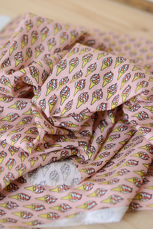 Popeline de coton Eva Mouton_Soft Ice X10cm