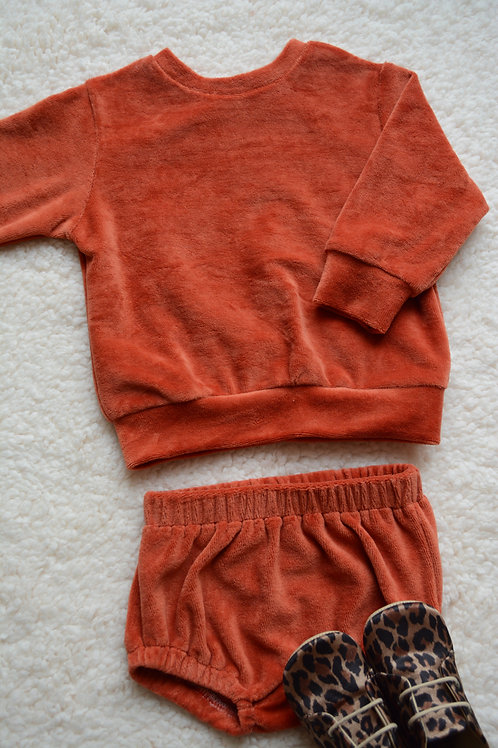 Ensemble sweat&bloomer orange