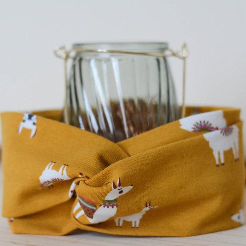 Bandeau fille lamas jaune