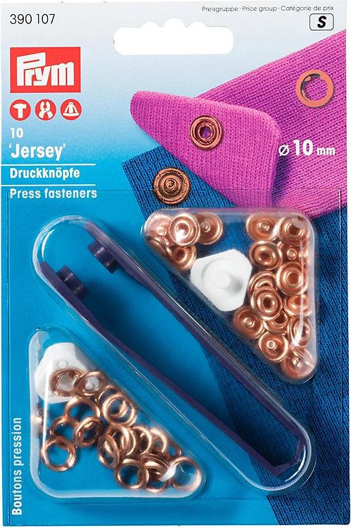 Boutons pression jersey laiton cuivré PRYM 10mm