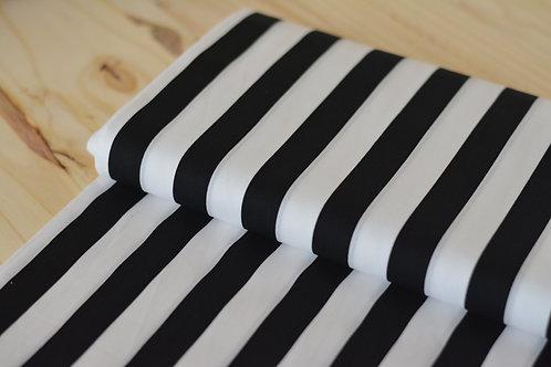 Coton rayé noir&blanc X10cm