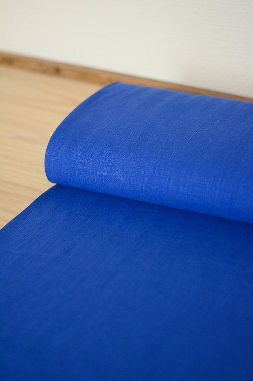 Lin lavé_Bleu roi X10cm