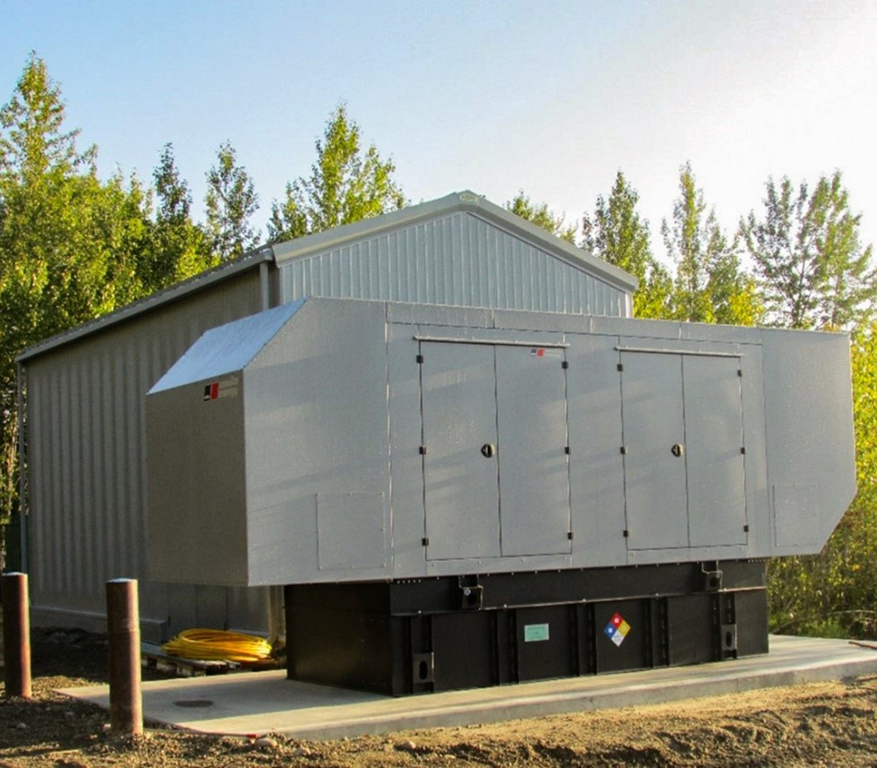 Electrical building and emergency power generator