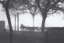 A swing in the fog B