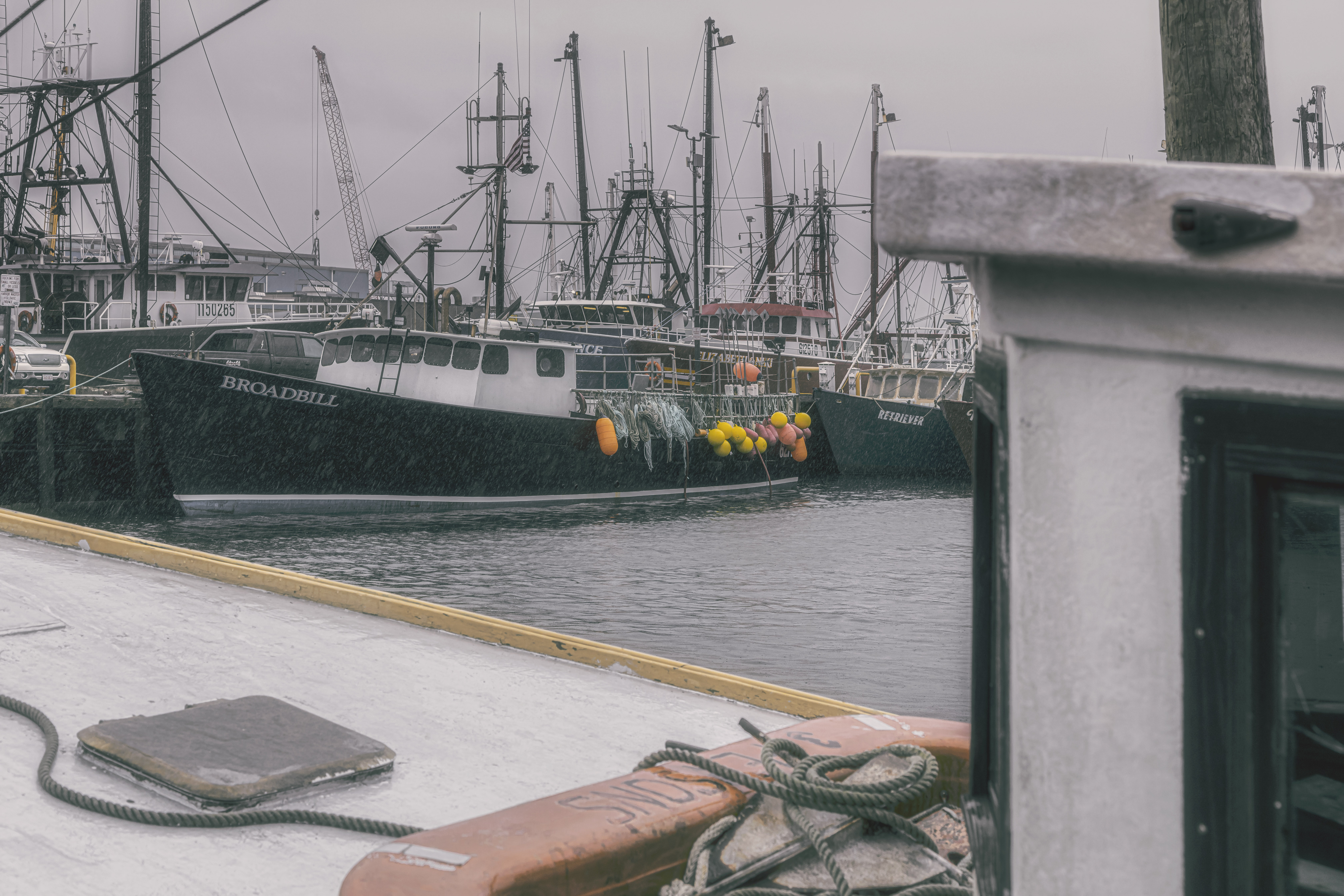 A rainy day in New Bedford A