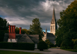 St Mary's Cathedral and thatched roof co