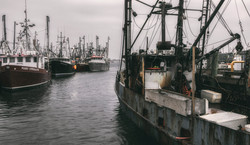 Rainy day at the boatyard A