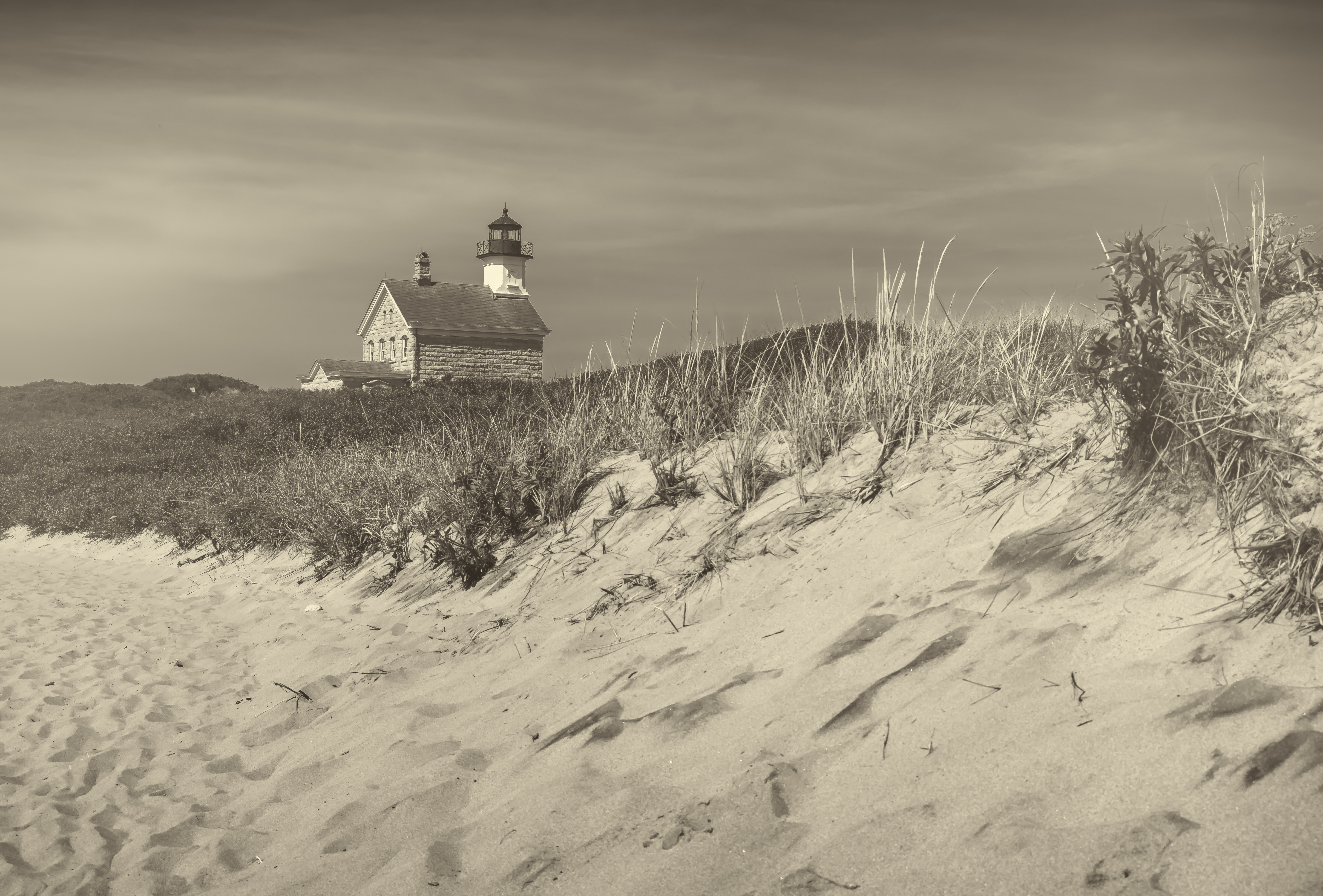 Block Island Light and Dunes A Y