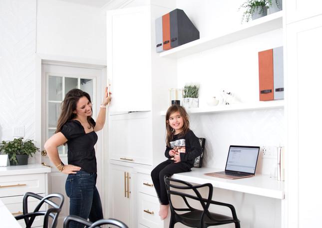 Built in desk kitchen white ac interiors