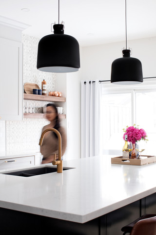 Black Pendants Kitchen AC Interiors Desi