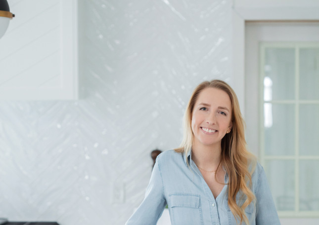 Black and White kitchen light oak floors ac interiors design