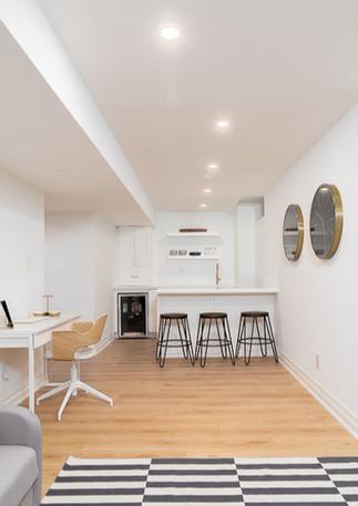 basement renovation kitchenette