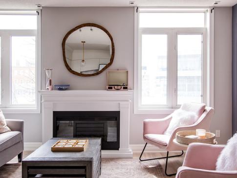 Fireplace Living Room AC Interiors Desig