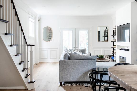 ac interiors design light oak floors white millwork
